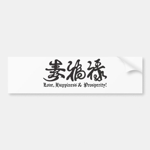 Chinese Black Lettering! Car Bumper Sticker
