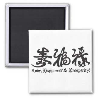 Chinese Black Lettering! Refrigerator Magnets