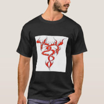 Chinese Blazing Red Dragon Picture Tshirt