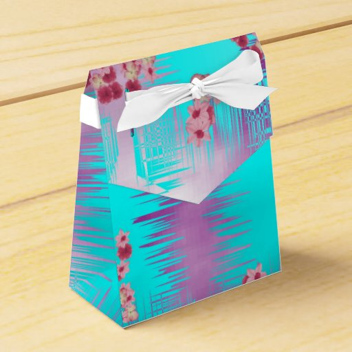 Blue Lightning Favor Boxes : Chinese blossom lilac and tiffany blue favor box zazzle