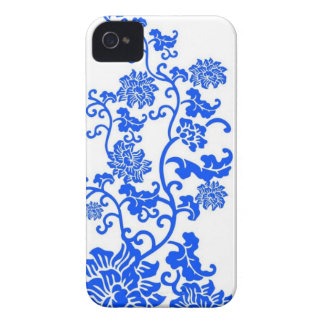 Chinese Blue and White Porcelain Decorative Patter iPhone 4 Case