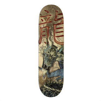 Chinese Blue Dragon Skateboard Deck