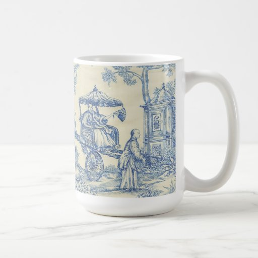 Chinese Blue Toile Coffee Mugs