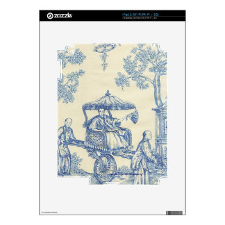 Chinese Blue Toile iPad 2 Decal