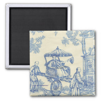 Chinese Blue Toile Magnet