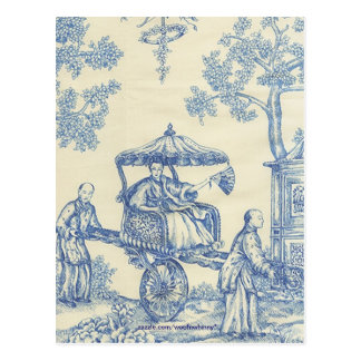 Chinese Blue Toile Postcard