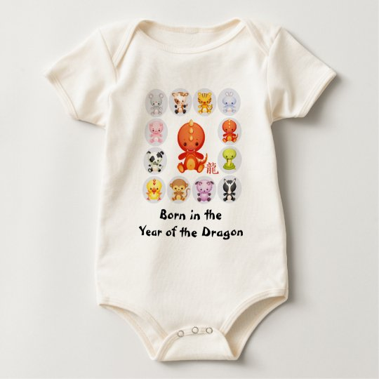 Chinese Born in the Year of the Dragon Baby Bodysuit
