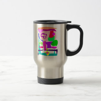 Chinese Boy Carrying a Bowl of Noodles 15 Oz Stainless Steel Travel Mug