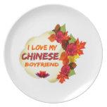 Chinese Boyfriend Design Dinner Plate