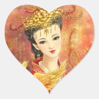 Chinese Bride with Phoenix Fantasy Art Sticker
