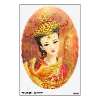 Chinese Bride with Phoenix Fantasy Art Wall Decal