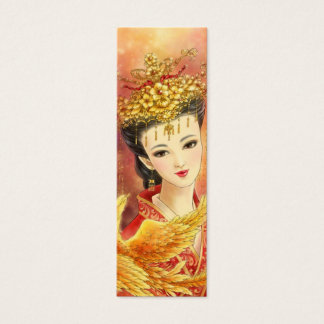 Chinese Bride with Phoenix Fantasy Bookmark Mini Business Card