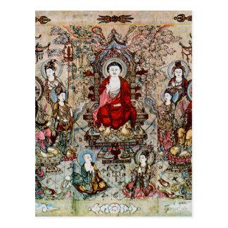 CHINESE BUDDHA PAINTING POSTCARD