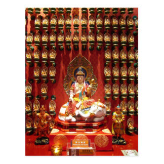 Chinese Buddhist temple Postcard