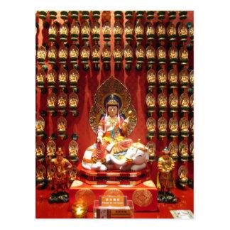 Chinese Buddhist temple Postcard
