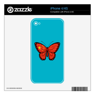 Chinese Butterfly Flag iPhone 4 Decal
