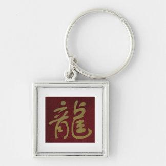 Chinese Calligraphy Dragon Keychain