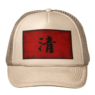 Chinese Calligraphy Symbol for Clarity in Red and Trucker Hat