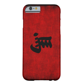 Chinese Calligraphy Symbol for Horse in Red Barely There iPhone 6 Case