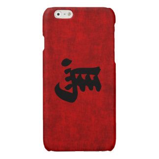 Chinese Calligraphy Symbol for Horse in Red Glossy iPhone 6 Case