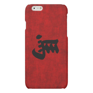 Chinese Calligraphy Symbol for Horse in Red Matte iPhone 6 Case