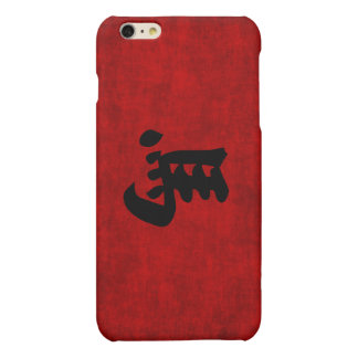 Chinese Calligraphy Symbol for Horse in Red Matte iPhone 6 Plus Case