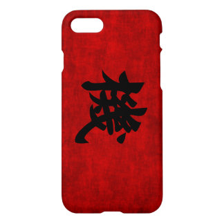 Chinese Calligraphy Symbol for Opportunity in Red iPhone 8/7 Case