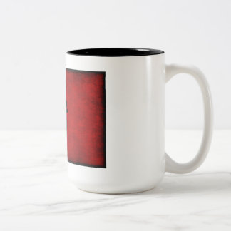 Chinese Calligraphy Symbol for Pig in Red Two-Tone Coffee Mug