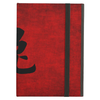 Chinese Calligraphy Symbol for Rabbit in Red Cover For iPad Air