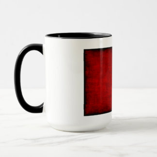 Chinese Calligraphy Symbol for Rabbit in Red Mug