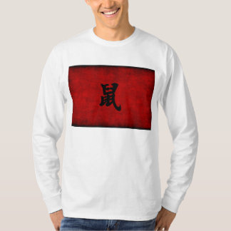 Chinese Calligraphy Symbol for Rat in Red T-Shirt