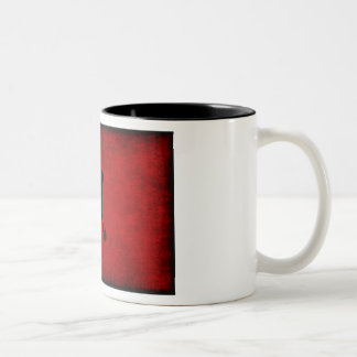 Chinese Calligraphy Symbol for Rat in Red Two-Tone Coffee Mug