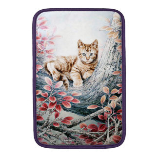 Chinese Cat Art Cat in Tree MacBook Sleeve