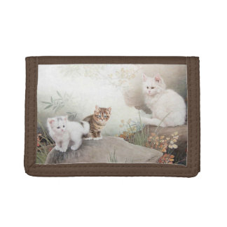Chinese Cat Art Tri-fold Wallets
