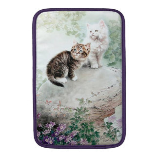 Chinese Cat Art Two Cats MacBook Sleeve