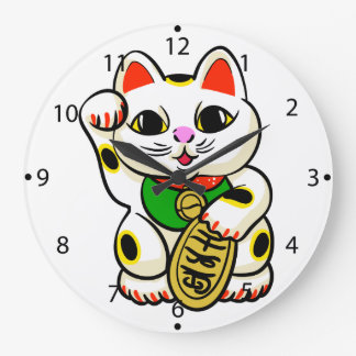 Chinese cat cartoon large clock