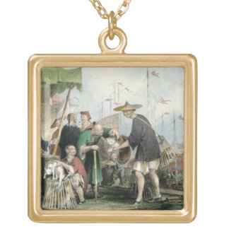 Chinese Cat Merchants, from 'China in a Series of Gold Plated Necklace