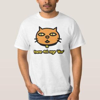 Chinese Cat Says 'Mao' Shirts