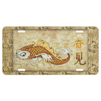Chinese Catfish KNOWLEDGE Traditional License Plate