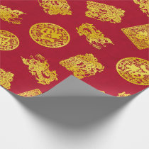 Chinese Celebration Wrapping Paper