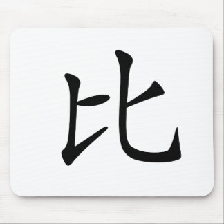 Chinese Character : bi3, Meaning: compare Mouse Pad