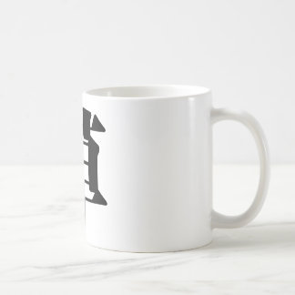 Chinese Character : cao, Meaning: grass, straw Classic White Coffee Mug