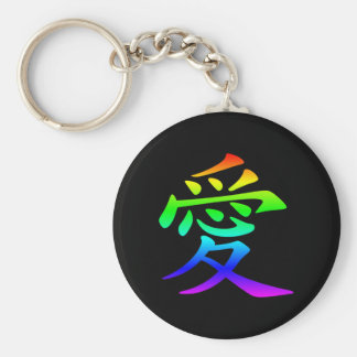 Chinese Character for Love Basic Round Button Keychain