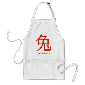 Chinese Character for Rabbit Adult Apron