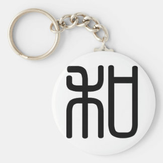 Chinese Character : he2, Meaning: peace, kind, sum Keychain
