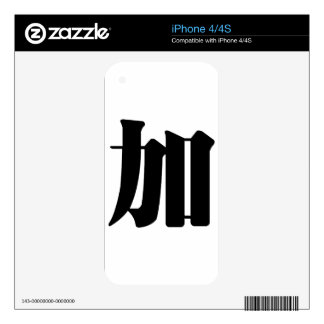 Chinese Character : jia, Meaning: add to, increase iPhone 4S Decal