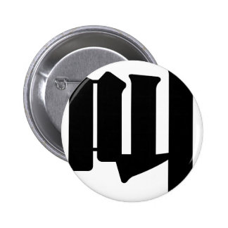Chinese Character : jiao, Meaning: cry, shout Pinback Button