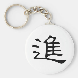 Chinese Character : jin, Meaning: enter Keychain