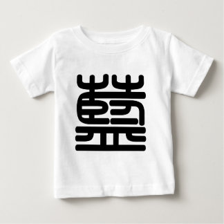 Chinese Character : lan, Meaning: blue Tee Shirt
