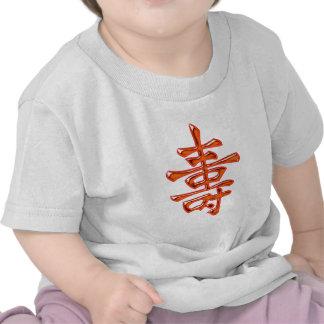 Chinese character long life long life tshirt